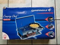 Two Burner Camping Gaz Stove with Grill.