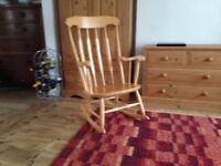 Light wood rocking chair