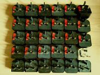 Last price ! Around 40 pcs of European to UK plug adapters
