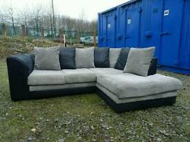 Black+Grey Corner Sofa *Excellent Condition,Delivery Available*