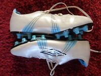 White Umbro Moulded Football Boots - Size 10