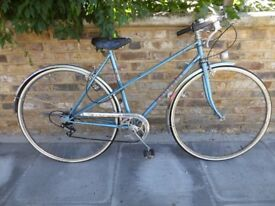Peugeot ladies mixte bike blue - 5 speed