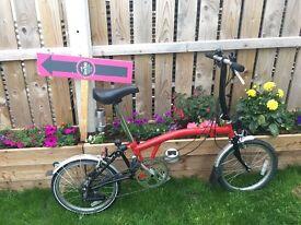 Brompton fold up bike