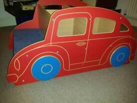 Childrens car book shelf stand seats