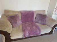 DFS Large Jumbo Cord Sofa and Chair