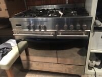 CDA High Quality Fan Assisted Double Gas Oven and 5 burner hob