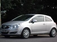 VAUXHALL CORSA 1.2 2008 SILVER PETROL LOW MILEAGE 53,000 ONLY WITH NEW 12 MONTH M.O.T