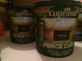 Cuprinol fence care rich oak 2 x 6l