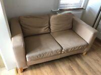 2 Ikea Karlanda two seather leather sofa