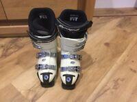 Ski boots and carry bag