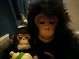 Furr real monkey and baby