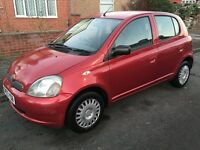 Toyota Yaris 2003 1.0 VVT-i 5 Doors Red, ONLY 1 Former Keeper Very Clean Bargain!