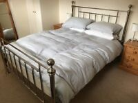 Feather & Black Henley nickel bedframe