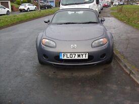 Mazda MX5 in grey. New MOT . 60000 MILES