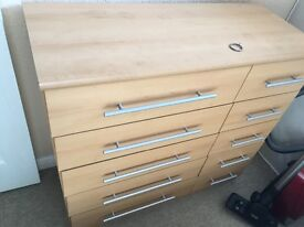 5 + 5 chest of drawers