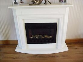 Electric Fire in a Solid Wood Fire place