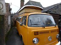VW T2 Campervan Right hand drive MOT until September 2017, £10,500 ono