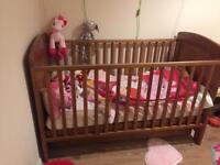 pine wood cot bed toddler kids