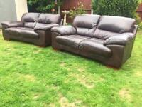 Italian leather sofolagy sofas immaculate free delivery