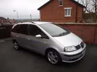 2006 SEAT ALHMABA TDI{7 SEATER,BELT DONE,FULL MOT,6 MONTHS WARRANTY}
