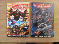 Marvel comics Guardians of the Galaxy Volumes 1 & 2 softcovers for sale by Abnett & Lanning