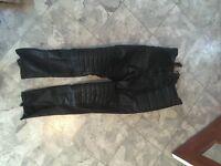 Leather Motor Bike Trousers size 34