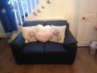 Black leather 2 x2 seaters and arm chair