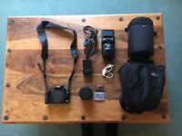 Canon 400D with 18-55mm Lens, Metz Flash and Lowepro Case