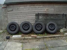 Toyota Rav4 Mk1&2 [96-2006] steel wheels + chunky off-road tyres for winter.