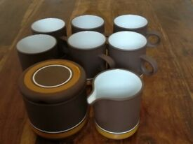 Lancaster Vitramic Contour coffee set, perfect condition. 1978 REDUCED PRICE!