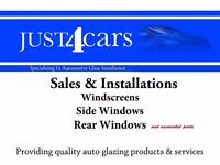 Just4Cars windscreen replacement service