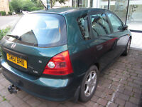 2001 Honda Civic, Green