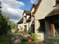 Stunning Spacious House for sale beside the River Spey, in Aberlour, Scotland.