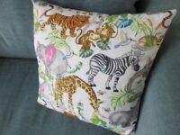 Colourful animal-design cushion