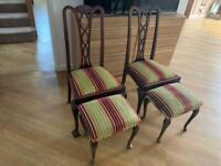 Vintage chairs & footstall