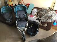 QUINNY SPEEDI UNISEX TRAVEL SYSTEM 3-in-1 with Extras Immaculate