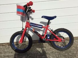 "14"" Spiderman bike"