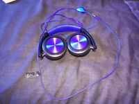 Travel headhones - blue
