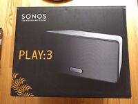 SONOS PLAY 3 Wireless Smart Sound Multi-Room Speaker White Liverpool