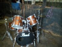 pearl export drum kit,