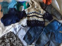 Bundle of boys clothing newborn / up to 1 month