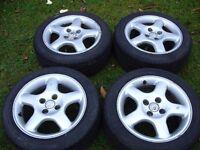 BBS alloy wheels with Yokohama 195 50 15 tyres, Vauxhall Nova, Corsa