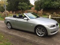 2009 BMW 320i CONVERTIBLE COUPE E93 only 69k HARD TOP *Big spec* low mileage just serviced BARGAIN