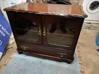 Mahogany TV display cabinet