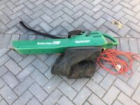 Leaf Blower and Vacuum with collection bag - Qualcast Turbo Vac 1100W