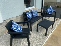 Rattan effect complete garden furniture set - brand new