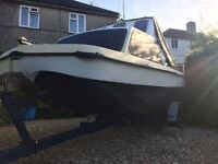 Fast fishing boat 16 ft