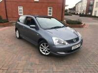 2004/04 HONDA CIVIC 1.6 SE 3 DOORS LEATHER SEATS LOVELY CAR DRIVES SUPERB YEARS MOT