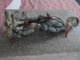 Capo.di.monte ornament in box figure of boy with Westie dog