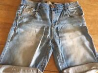 Boys Mango denim shorts. Aged 14 yrs.